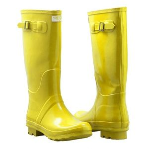 Women Tall Rain Boots, #3106, Yellow