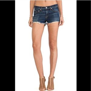 RAG & BONE Mila High Waist Cut Off Jean Shorts 32
