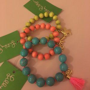 Lilly pulitzer bracelet set NWT