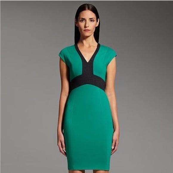 Narciso Rodriguez Dresses Great Work Dress Green And Black Sheath