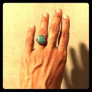 Jewelry - Vintage Indian silver and turquoise ring Size 7