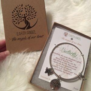 Jewelry - Earth Angel Butterfly Bangle Bracelet