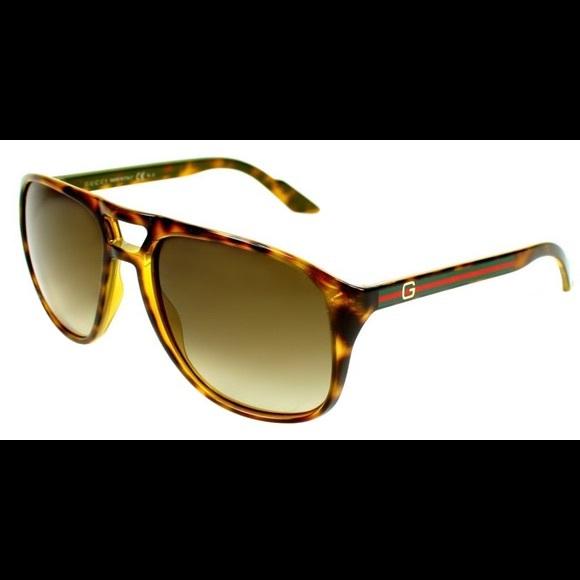 22774deb9a5 Gucci Other - GUCCI HAVANA BROWN GRADIENT AVIATOR SUNGLASSES