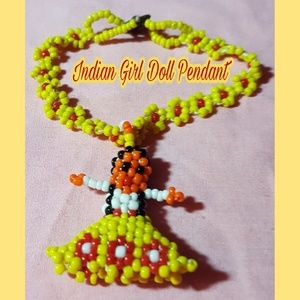 Jewelry - VTG SEED BEAD NAVAJO LITTLE GIRL DOLL NECKLACE