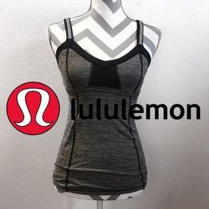 {4} Lululemon Light Up Sports Bra Tank Gray