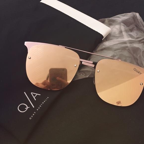 92ce407d3b50f BN Quay private eyes rose gold aviator sunglasses