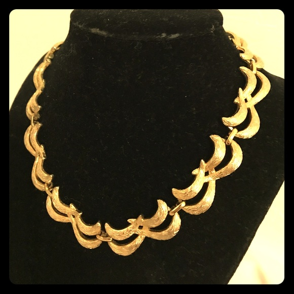 Monet Jewelry Gold Tone Vintage Necklacechoker Poshmark