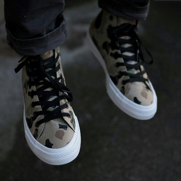 NWT Converse Chuck II Reflective Desert Camo Shoe NWT