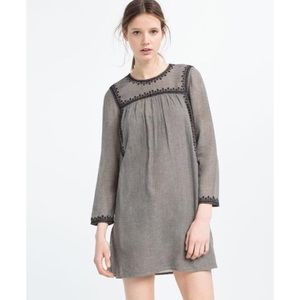 Zara | NWT Embroidered Dress