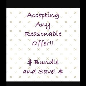 Other - Bundle and Get a great deal.Purchase any item now.