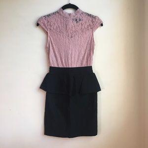 NEW Heart Soul Lace Peplum Dress