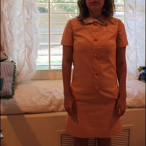 VINTAGE BUTTON DOWN 1960'S DRESS