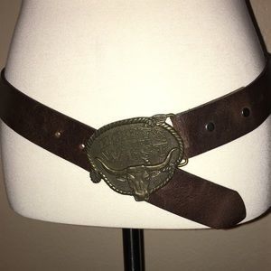 """Accessories - """"HARTS OF THE WEST"""" WESTERN LEATHER BELT."""
