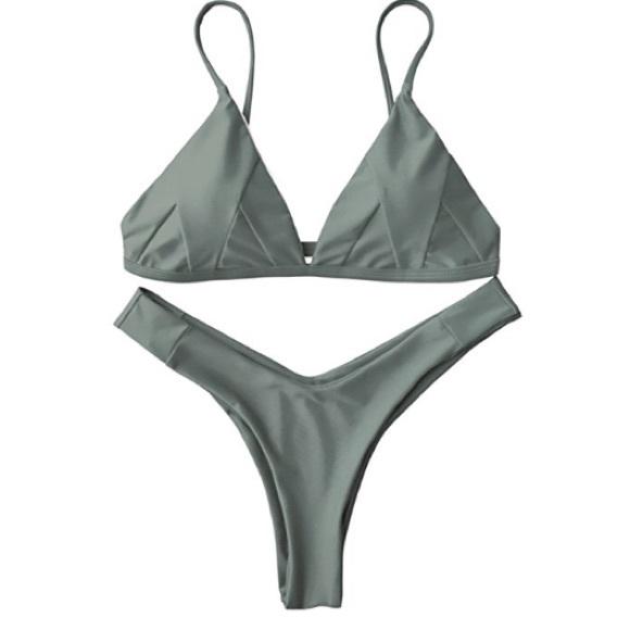 5bed55b13e5a3 Swim | Olive Green Two Piece Bikini Set Cheeky New Sexy | Poshmark