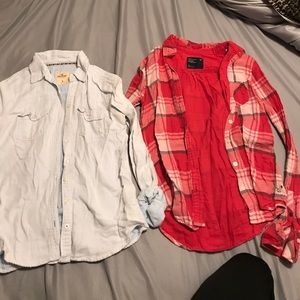 American eagle and hollister shirt
