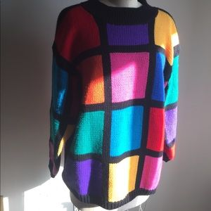 Color Block Vintage Sweater by CSL