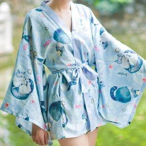 e0ccdbe57074f kimono Yukata Haori Swim - Kitty kimono haori yukata
