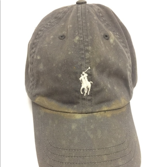 Polo Hat Vintage Distressed Leather Strap Faded IH9E2WD