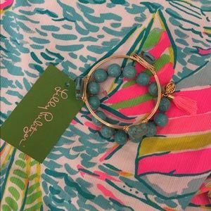 NEW Lilly Pulitzer Tassel & elephant bracelet set