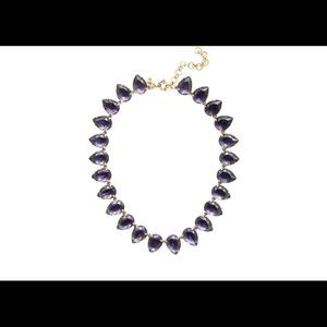 Navy Blue Stone Necklace