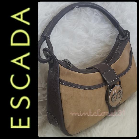 8ae6cce012ff Escada Bags | Sport Leather Suede Bag | Poshmark