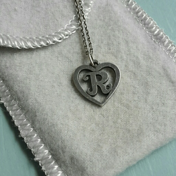 Vintage James Avery Retired Initial Heart Charm