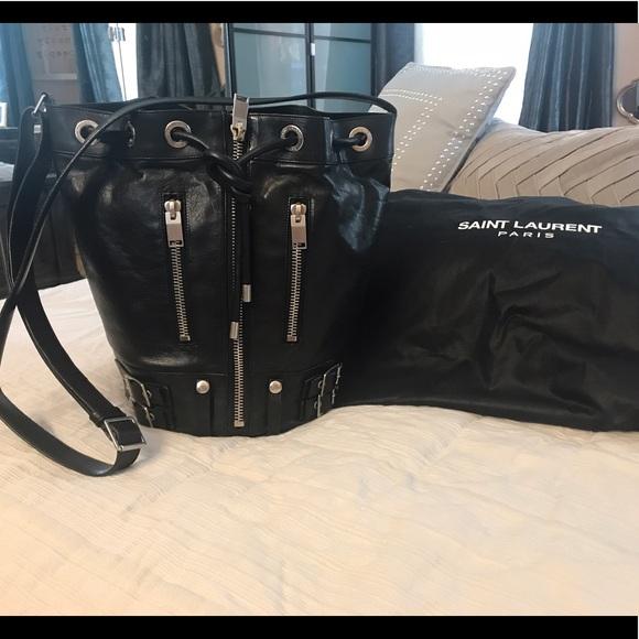 1748c2d28c79 ... Saint Laurent Rider Bucket Bag. M 595d02002ba50a15b0005eef