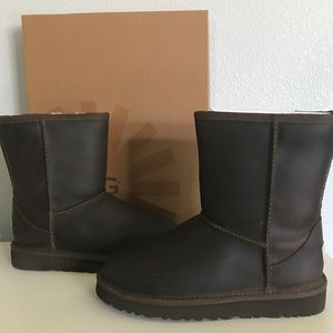 3d5ad100332 UGG Kids Chestnut Classic Short Leather NWT