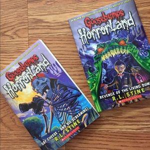 Goosebumps Horrorland books (2pk)