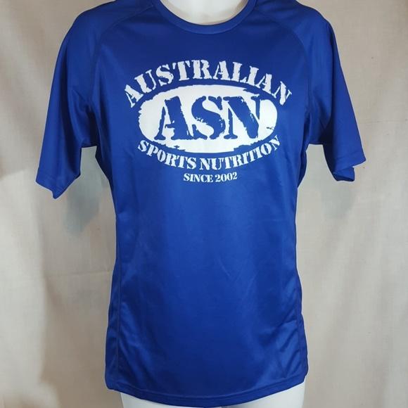 Asn Australian sports nutrition blue XL t shirt