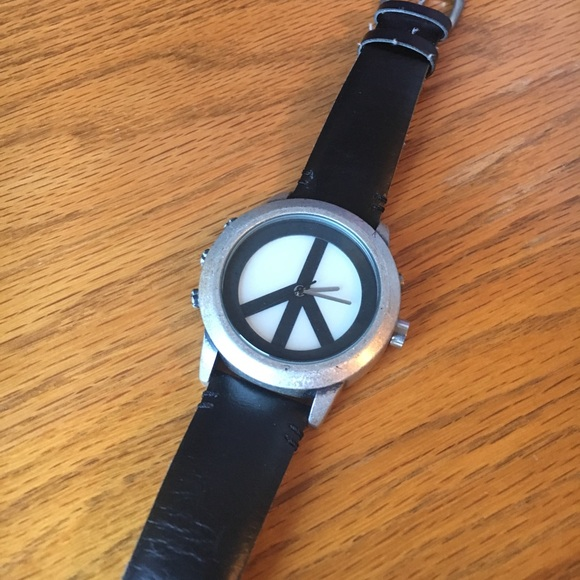 LUCKY BRAND SILVER Tone PEACE Watch LOVE New Bracelet ... |Lucky Brand Peace Watch