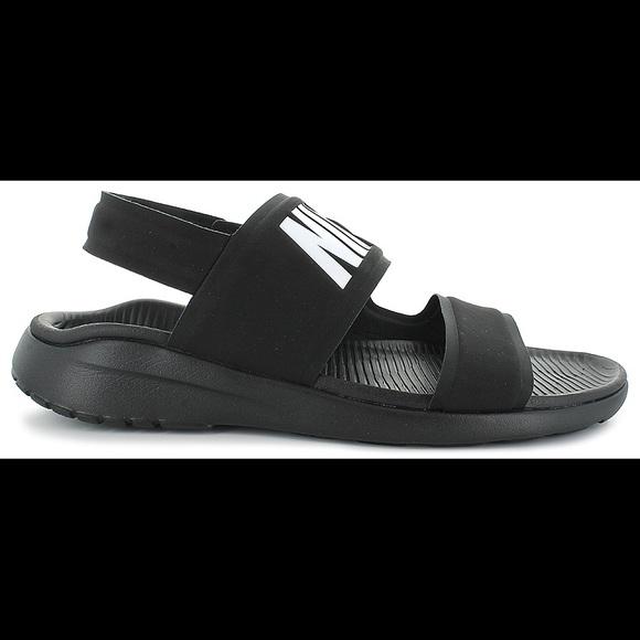 a614428b22c Nike Tanjun Sport Sandal - Black White