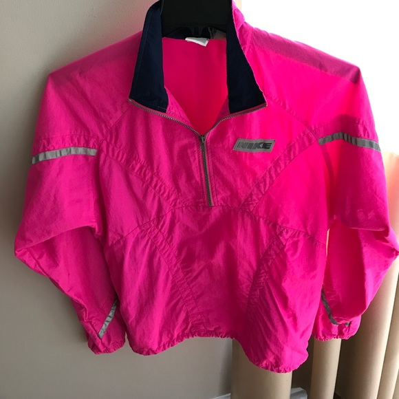 33 off nike jackets blazers retro neon pink nike pullover windbreaker from m 39 s closet on. Black Bedroom Furniture Sets. Home Design Ideas