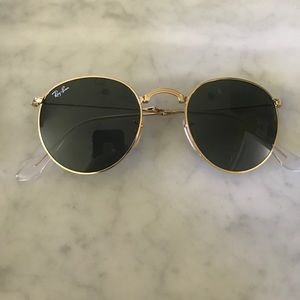 cc111a02f121d Ray-Ban Accessories - Ray Ban Round Metal Folding Gold RB3532