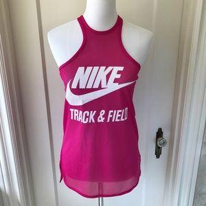 Nike Mesh Track & Field Tank- Pink