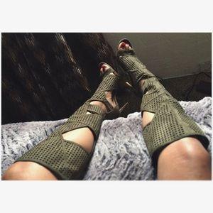 Olive Gladiator heels