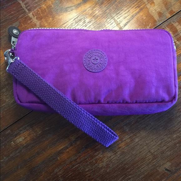 5b4afe85e29 Kipling Handbags - ON SALE Kipling Bernard Wallet Tile Purple