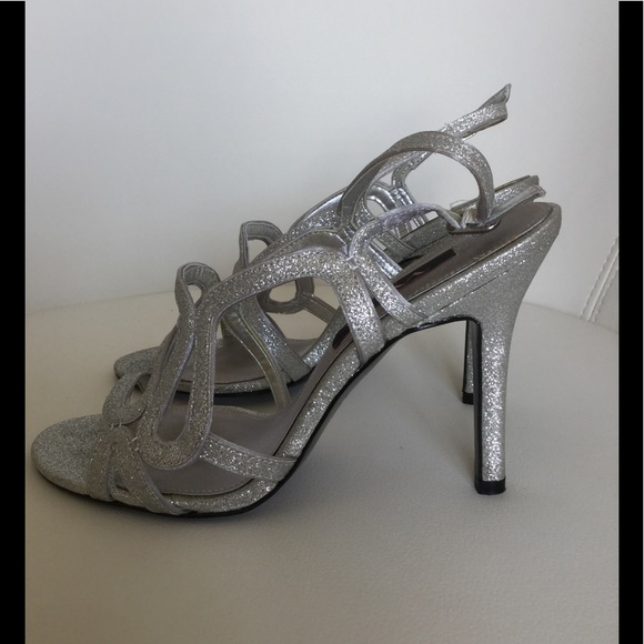 Nina Shoes | Silver Sparkle Strappy