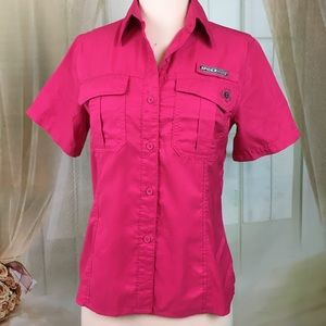 Spiderwire Pink Short Sleeved Blouse