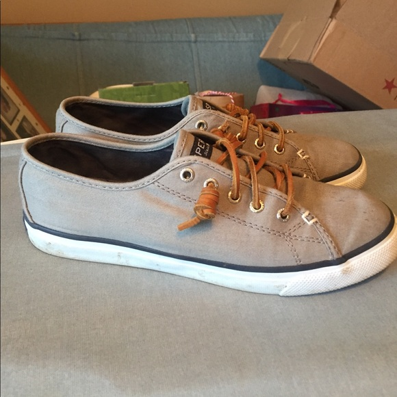 Grey Sperry Seacoast Canvas Sneaker 75