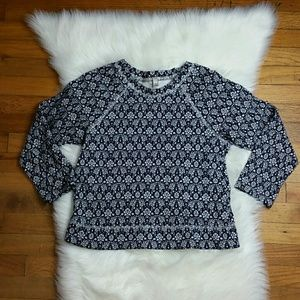J. Crew Jacquard Floral Sweatshirt