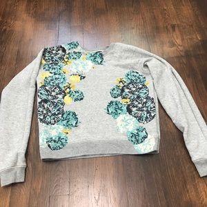 J Crew Floral Sweatshirt
