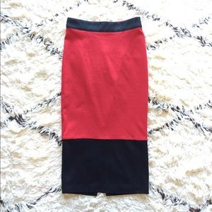 Asos Colorblock Pencil Skirt