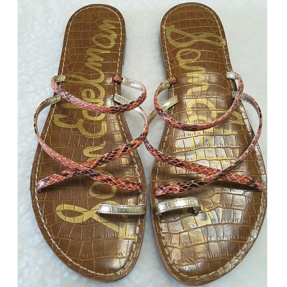 8cd1b20b32bfc Sam Edelman Gillian Sandals Flats Snakeskin Size 9.  M 595d350beaf030cad1143899