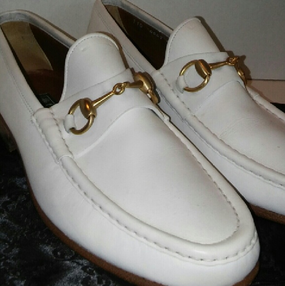 60c23cf82433b Gucci Other - Mens GUCCI LOAFERS WINTER WHITE AND GOLD! 100%