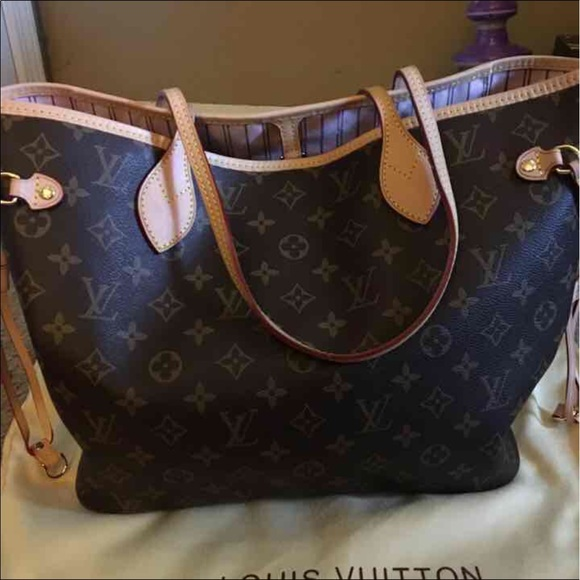 6ea94052b62f Louis Vuitton Handbags - LV Neverfull Rose Ballerine