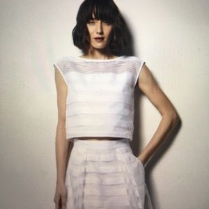 Milly organza striped top