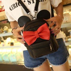 Handbags - Mickey Mini Backpack with Bow
