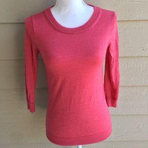 J. Crew Red Merino Wool Sweater