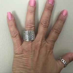 Diamond Geo Rows Ring